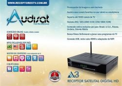 RECEPTOR AUDISAT A3 FULL HD WIFI USB
