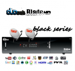 RECEPTOR DUOSAT BLACK SERIES 3D YOUTUBE USB HDMI